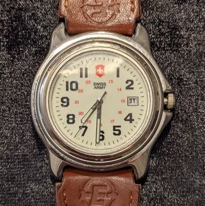 Swiss Army Men's Watch with Black and Brown Band